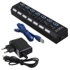 HUB USB 3.0 7-портовый концентратор с кнопками с БП