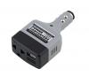 Автомобильный конвертер  USB DC 12V/24V in 110V