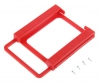 Крепление HDD 2.5 в 3.5 пластиковое красное