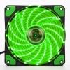 Вентилятор 120х120х25 15LED Зеленый с резиной