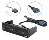 "Card-reader MS/CF/SD/xD/TF/M2/USB3.0 5"" black"