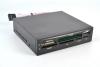 "Card-reader MS/CF/SD/xD/TF/M2/USB2.0 3.5"" black"
