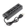 HUB USB 2.0 4-портовый концентратор с кнопками 1.5м с БП