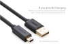 Кабель USBmini(M) - USB2.0(M) 1,5м экран Ugreen черный