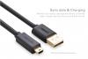 Кабель USBmini(M) - USB2.0(M) 1,0м экран Ugreen черный
