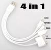Кабель USB 4in1 для iPhone4 / Nokia / MicroUSB / MiniUSB