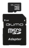 Карта памяти 8Gb MicroSDHC QUMO Class10 + адаптер SD