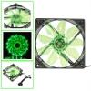 Вентилятор 120х120х25 15LED Зеленый