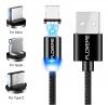 Кабель Магнитный MicroUSB/USB-C/iPhone5 Зарядка Данные